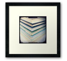 Blue chevrons Framed Print