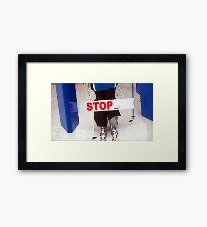 STOP!! Framed Print