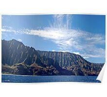 Napali Coast cliffs, on Kauai, Hawaii Poster