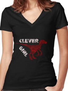 Raptorous Education Women's Fitted V-Neck T-Shirt