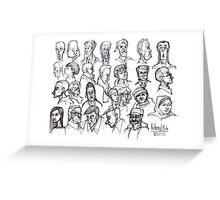 The Faces of San Francisco Greeting Card