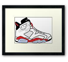"""Air Jordan VI (6) """"White Infrared"""" Framed Print"""