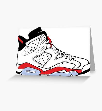 "Air Jordan VI (6) ""White Infrared"" Greeting Card"