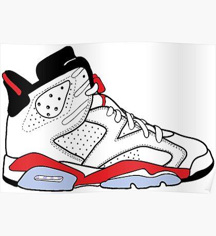 """Air Jordan VI (6) """"White Infrared"""" Poster"""