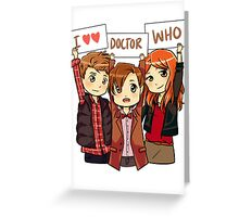 11th Doctor Squad Greeting Card