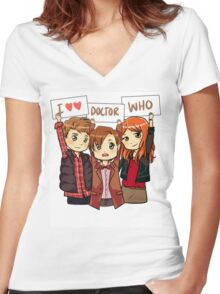 11th Doctor Squad Women's Fitted V-Neck T-Shirt