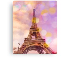 Eiffel Tower Sunset Canvas Print