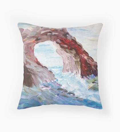 Rock in the Mediteranean  Throw Pillow