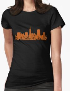 Sucka Free Orange! Womens Fitted T-Shirt
