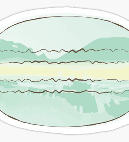 Mint Macaron Sticker - Pastel Macaroon Sticker