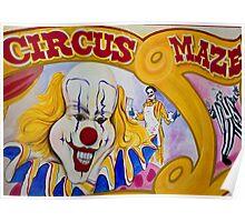 Colourful Circus Maze Poster