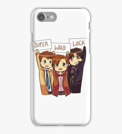 Chibi SuperWhoLock iPhone Case/Skin