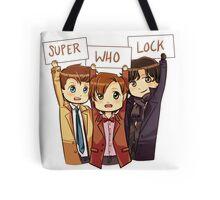 Chibi SuperWhoLock Tote Bag