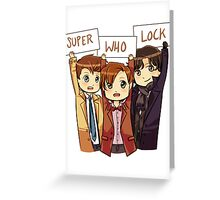 Chibi SuperWhoLock Greeting Card
