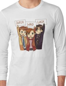 Chibi SuperWhoLock Long Sleeve T-Shirt