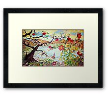 Apple Tree in the Meadow Framed Print