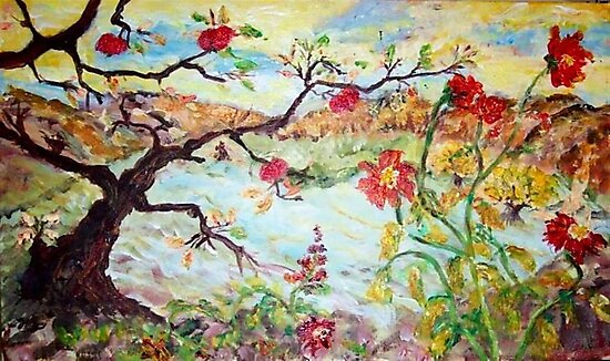Apple Tree in the Meadow by Mary Sedici