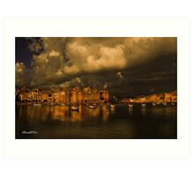 Senglea  overcast Art Print