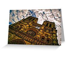 Notre Dame de Paris Facade HDR Greeting Card