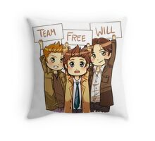 Chibi Team Free Will Throw Pillow