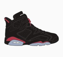 "Air Jordan VI (6) ""Black Infrared"" by gaeldesmarais"