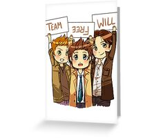 Chibi Team Free Will Ver. 2 Greeting Card