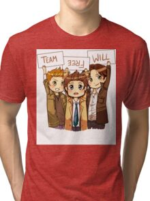 Chibi Team Free Will Ver. 2 Tri-blend T-Shirt