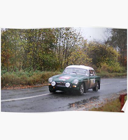 Vintage Car Rally Poster