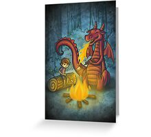 Campfire marshmallows Greeting Card