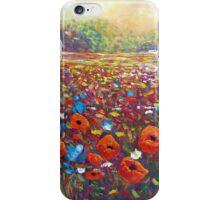 Poppies & Wildflower Field iPhone Case/Skin