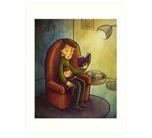 Reading stories Art Print