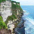 Sea cliffs near Ulawati Temple, Bali by Michael Brewer
