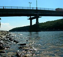 Kiev - Dark Bridge by Nina Zhiltsova