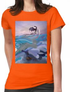 Dragon Soaring Womens Fitted T-Shirt