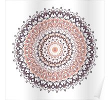 Autumn Leaves Mandala Poster