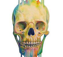 Rainbow Skull by Dylanunicorn