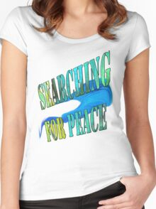 Searching for Peace/ Art + Products Design  Women's Fitted Scoop T-Shirt