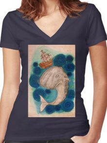 Call Me Ishmael Women's Fitted V-Neck T-Shirt