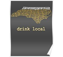 Drink Local - North Carolina Beer Shirt Poster