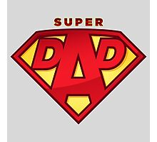 """Happy Father's Day celebrations concept """"SUPERDAD"""" logo Photographic Print"""