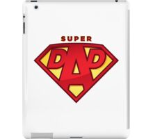 "Happy Father's Day celebrations concept ""SUPERDAD"" logo iPad Case/Skin"