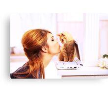 Shy Orange Furry Feline Canvas Print