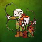 Little Legolas and Tauriel off on an Adventure by JZanderK