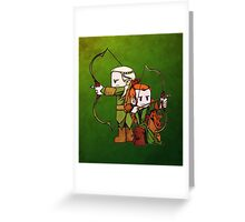 Little Legolas and Tauriel off on an Adventure Greeting Card