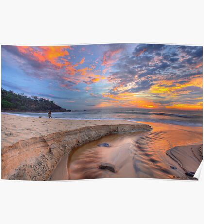 Sunrise at Sunshine Beach Poster