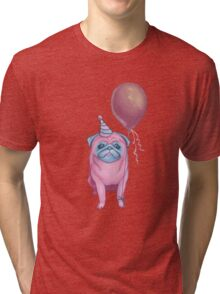 Party pug Tri-blend T-Shirt