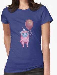 Party pug Womens Fitted T-Shirt