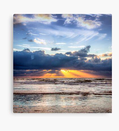 Beautiful Dutch Summer Sunset Canvas Print