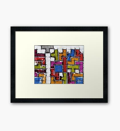 Life as Tetris Framed Print