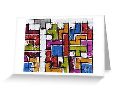Life as Tetris Greeting Card